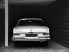 Mercedes (Strange Artifact) Tags: fuji fujifilm x30 mercedes zwartwit black white