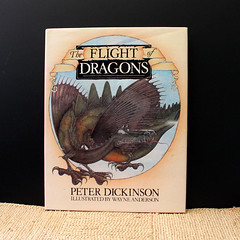 The Flight of Dragons. (Kultur*) Tags: vintage vintagebook fiction illustrated drawings 1970s illustrations firstedition fantasy dragons dickinson flying knights fantasticalbeasts