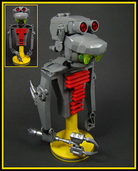 Wilfred the WIP (Karf Oohlu) Tags: lego moc wip mecha droid bot bust rockmonster