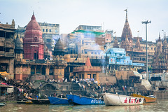 Riverbank of Ganges in Varanasi, India (phuong.sg@gmail.com) Tags: ancient architecture asia asian bank bath benares boat building city colorful colors eternity ethnic exotic ganga ganges ghat hindu hinduism holy houses india indian landmark nirvana people pradesh pray reincarnation religion religious ritual river sacred spirit spirituality stairs steps temple tourism tower town travel uttar varanasi water