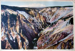 #18 Canyon From Inspiration Point , Yellowstone Park 1935 (Hydra5) Tags: yellowstonepark 1935 canyonfrominspirationpoint