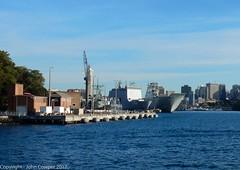Royal Australian Navy - HMAS Choules and HMAS Canberra at Fleet Base East (Garden Island) (john cowper) Tags: royalaustraliannavy hmascanberra gardenisland fleetbaseeast sydneyharbour sydney newsouthwales