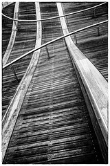 wave deck 1 (rick miller foto) Tags: publicspaces entertainmentdistrict harbour harbourfront black white bw simcoe wave deck toronto ontario canada urban art project waterfront front st