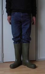 DUNLOP Purofort groen 027 (stevelman14) Tags: dunlop purofort groengroen laarzen schoon poseren indoor