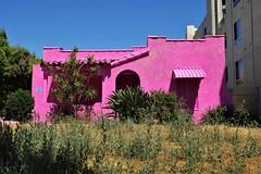 Pink Is A Nice Color - Urban Art, (Joey Z1) Tags: pinkhouse pink is a nice color urbanla urbanscene pantingcompletedby colorful building pinkisanicecolor polychromatic spanishstyledhouse arthouse themostfamousartist streetscene sola urbanart bylaphotolaureatejoeyzanotti