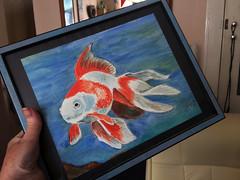 Goldfish Painting (Jainbow) Tags: painting art drawing fish goldfish paper frame jainbow acrylics colour
