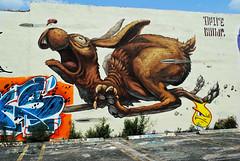Run Rabbit, Run! (Infinity & Beyond Photography) Tags: run running rabbit hare wall mural painting streetart graffiti wynwood walls miami