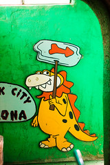 Flinestones, Meet the Flinstones (Thomas Hawk) Tags: america arizona bedrockcity flinstones flintstonesbedrockcity usa unitedstates unitedstatesofamerica williams dinosaur fav10