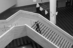 Upstairs (frank.gronau) Tags: bw architektur museum moma stairs treppe black weis white schwarz 7 alpha sony gronau frank