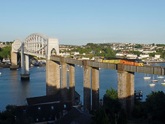70810 Royal Albert Bridge, Saltash (2) (Marky7890) Tags: colasrail 70810 class70 6c87 royalalbertbridge railway saltash cornwall cornishmainline train
