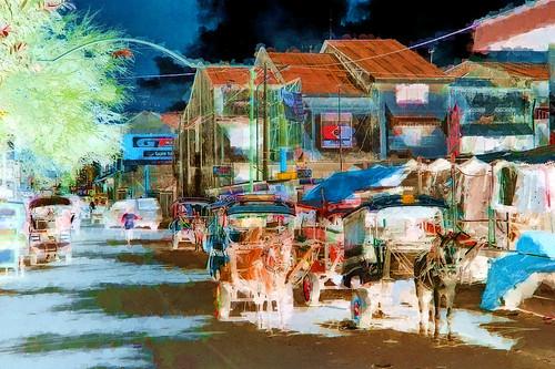 Indonesia - Lombok - Mataram - Cidome (Horse-Cart-Taxi) - 13bb