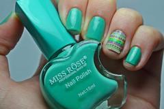 1C 10M 10A # Cremoso: 021 - Miss Rôse. (Raíssa S. (:) Tags: esmalte unhas nails missrose naillacquer nailpolish green turquesa turquoise verde ethnic tribal creamy cremoso
