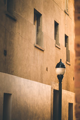golden alley (KieraJo) Tags: 100mm 28 canonef100mmf28macrousm bokeh canon 5d mark iii 3 5 d 5d3 fullframe dslr outdoor photography outside pretty summer trees clear sky buildings urban photo manmade lamp logan utah cache valley downtown