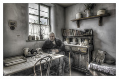 Ironbridge Townsman 3 (Darwinsgift) Tags: ironbridge blists hill vintage victorian town museum living hdr art nikkor 20mm f18 g nikon d810
