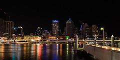 Brisbane Night Lights (armct) Tags: nightlights city lights river reflection casino treasurycasino night shimmer perspective freeway riverbank southbank brisbane queensland architecture nikon d810 1635mm exposure downtown urban