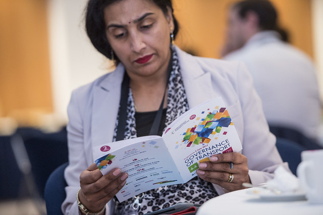 Participant reading the ITF day programme