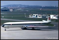 G-APMF / LBG 12.04.1968 (propfreak) Tags: propfreak propfreakcollection slidescan lbg lfpb paris lebourget gapmf comet4b britisheuropeanairways dh106