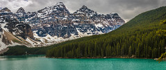 Morraine Lake in the Valley of the ten  kings (tibchris) Tags: banff alberta canada lakelouise outdoors nature mountains forests landscape travel nationalpark lake glacial morainelake valleyofthetenpeaks