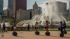Segway Riders (| ElectricEye |) Tags: segway riders chicago chicagostreet buckinghamfountain tourchicago tourism fujifilmxseries fujifilm35mm streetphotography