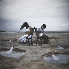 VINCOL_O (thewickedend - Nicolas Bruno) Tags: nicolas bruno sleep sleepparalysis selfportrait art artwork surreal conceptual hands marsh serene storm blindfold 365 nightmare dreams