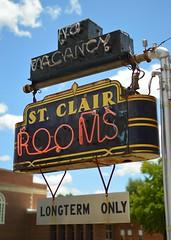 st. clair rooms (brown_theo) Tags: ohio neon sign sleeping rooms room vacancy longterm saint st clair barron street eaton