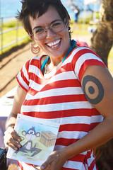 Pamela (radargeek) Tags: isleofmaui maui hawaii hookipabeachpark letitgolittlemonkey artist pamelaalejandra tattoo smile