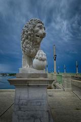 Bridge of Lions in St Augustine, Florida (` Toshio ') Tags: toshio bridgeoflions staugustine florida lion storm brdige intracoastalwaterway statue usa america clouds