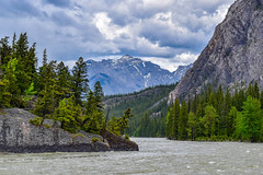 Banff (Jane Olsen ( Chardonnay)) Tags: mountain landscape rock cliff water clouds sky alberta banff trees