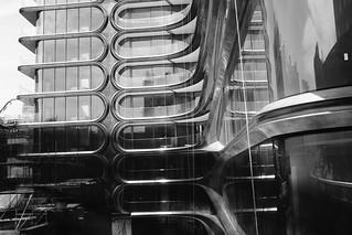 Facade on Zaha Hadid's High Line Building