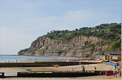 Shanklin, looking towards Luccombe. (Bristol RE) Tags: shanklin isleofwight beach sea groynes sand seaside luccombe