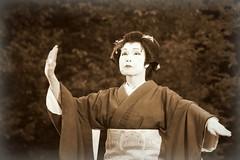 Pantomime (Agne Barde) Tags: sepia dancer pantomime japanese chidorikai festival folklore baltica japan