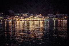 night_harbour (A & A McKee) Tags: harbour night evening reflection sea water lights restaurant libyan loutro crete sfakia greece island nikon d500 1835 18 mountain fishing village sigma colours houses beautiful people bars restaurants