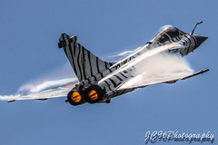 Nato Tiger Dassault Rafale paint scheme display at RNAS Yeovilton international air day . (JC96 Photography) Tags: nato tiger dassault raffle hard be humble jet delta wing fast afterburners fluff blue sky red eyes aviation airshow photography canon