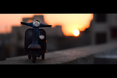 Vespa in Sunset Sky (Karim S.Punjani) Tags: transport style retro moped scooter vehicle vespa background vintage bike motorcycle fashion classic transportation lifestyle travel parked decoration motorbike road summer miniature street old city motor sport toys culture luxury made miniatures race romantic beautiful closeup model antique history cool wheel urban frame scoot color speed action freedom object italian concept car delivering montreal canada carrying horizontal modeoftransport photography quebec