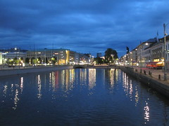 Stora Hamnkanalen from Tyska bron, summer twilight, Gothenburg, Sweden (Paul McClure DC) Tags: gothenburg göteborg sweden sverige july2015 scenery historic architecture