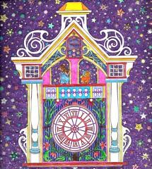 astralclock (regina11163) Tags: artreproduction stars clock astraltravel sureal purple tower