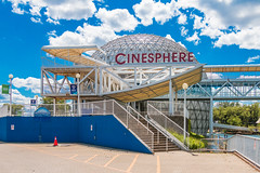 Cinesphere at Ontario Place (A Great Capture) Tags: theatre geodesic dome imax movie iconic lake ontario place cinesphere toronto harbour agreatcapture agc wwwagreatcapturecom adjm ash2276 ashleylduffus ald mobilejay jamesmitchell on canada canadian photographer northamerica torontoexplore summer summertime été 2017 cityscape urbanscape eos digital dslr lens canon 70d urbannature sky himmel bluesky clouds nuvole wolken nubes stairs steps ontario150 round lines efs18135mm city downtown lights urban streetphotography streetscape street calle urbex