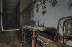 Corridor (JG - Instants of light) Tags: house old table chair tiles decoration flowers shadows light abandoned vandalized decay decaying corredor casa antiga mesa cadeira azulejos decoração flores sombras abandonado vandalizado decadente decadência urbex nikon d5500 sigma 1020 portugal