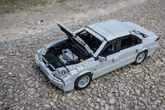 Peugeot 607 (Rolic) Tags: rolands kirpis peugeot 607 lego moc scale model custom rolic car engine open