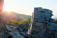 Blackrock Summit Sunset (Geoff Sills) Tags: shenandoah national park blackrock summit sunset rock nikon d700 35mm 14g lens flare hdr high dynamic range illumeon digital illumeondigital geoffrey william sills geoff landscape wonder explore sunrise detail composition