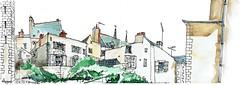 Angers, jardin du musée des Beaux Arts (Croctoo) Tags: croctoo croquis croctoofr aquarelle watercolor angers maine et loire ville