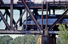 Top and Bottom (craigsanders429) Tags: amtrak amtraktrains sacramentocalifornia bridges railroadbridges amtrakscapitols amtrakmotivepower amtraklocomotives amtrakincalifornia california