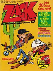 ZACK / 1976 Nr. 16 (micky the pixel) Tags: comics comic heft koralleverlag zack morris luckyluke billythekid wildwest humor