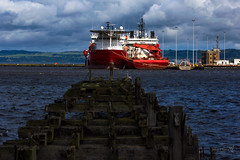 Leith Docks 12 June 2017 (JamesPDeans.co.uk) Tags: landscape decay wooden woodenremains northsea firthofforth unitedkingdom for man who has everything britain leith wwwjamespdeanscouk docks landscapeforwalls europe uk ships gb greatbritain oilsupplyboats sea digital downloads licence scotland pier ruins coastaldecay history edinburgh prints sale oilindustry lothian coast harbour james p deans photography