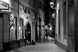 Old streets at night