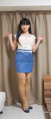 DSC09865 (mimo-momo) Tags: crossdressing crossdresser crossdress tightskirt transvestite japanese