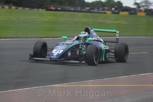 Patrik Pasma in British F4 during the BTCC weekend at Croft, June 2017