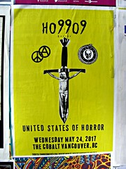 United States of Horror (knightbefore_99) Tags: horror band hardcore show cobalt vancouver stage live gig cool awesome loud crass blunt unitedstatesofhorror poster art yellow