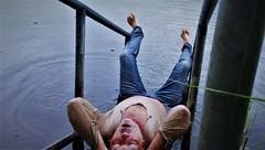 summer-rain (marcostetter) Tags: wet wetclothing wetlook wetjeans wetshirt lake bluejeans wetclothes wetpants landscape water barefoot body bodyart