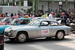 #138 Lancia Flaminia 3C Supersport 1956 (seb !!!) Tags: coupé coach fastback italie italy italienne italian italia grise grigio gris grau gray cinza 2017 auto automobile automovel automovil automobil canon 1100d cars course sportive anciennes ancienne old oldtimers populaire paris seb france voiture wagen car tour optic 2000 grand palais race racing competition photo picture foto image bild imagen imagem classique classic klassic chrome